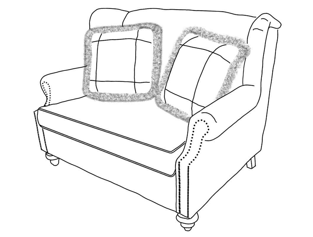 Club-Loveseat-Line-Drawing